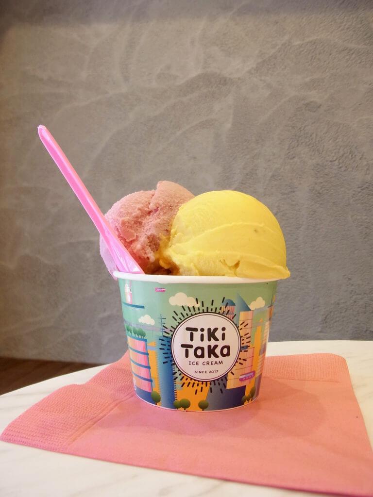 アイスクリームが3つ入ったセントラル(カップ) 555円(税別)
