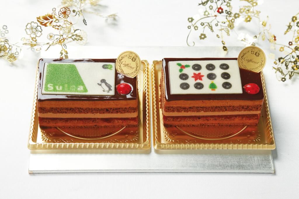 (左)カファレルwith Suica(Suicaカードバージョン)  (右)カファレルwith Suicaクリスマス(クリスマスバージョン)/カファレル