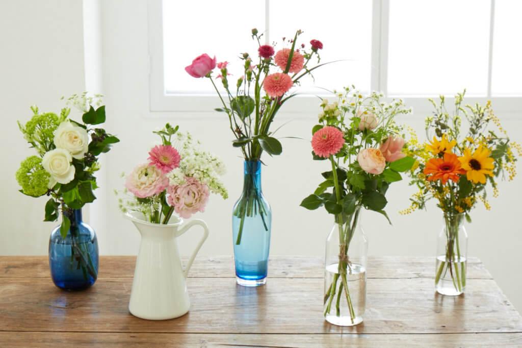 「Basicコース」でお届けするお花の一例です。