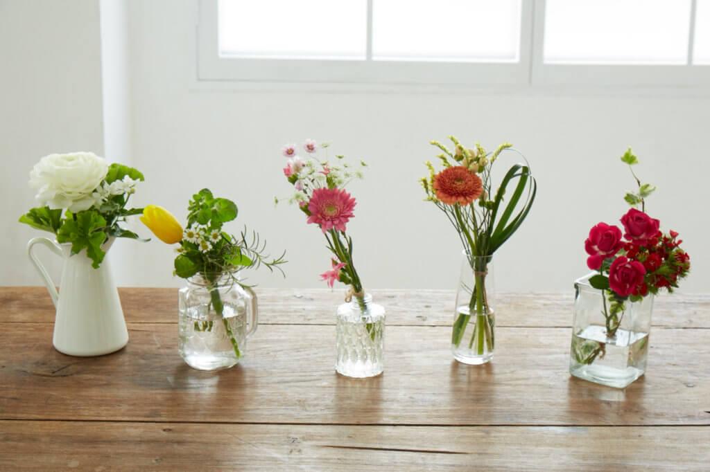 「Liteコース」でお届けするお花の一例です。
