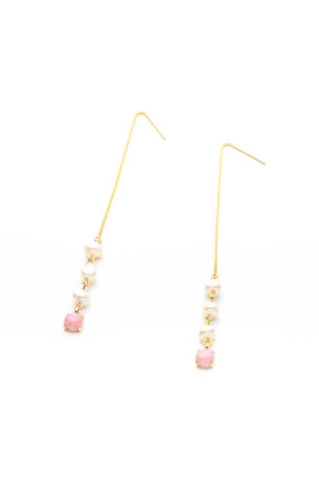 「Venetian Chain Pearl Pierces」¥23,000(税別)