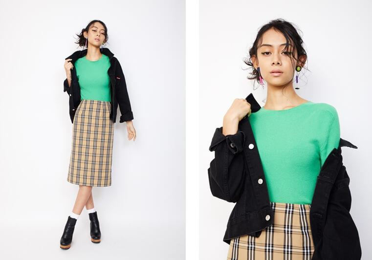 衣装協力:SLY モデル:小林サラ /メイク:風間義則 @Juice /ヘア:Ken Yoshimura @AVGVST