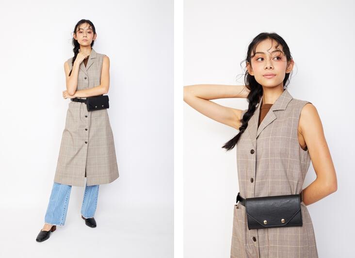 衣装協力:MOUSSY モデル:小林サラ /メイク:風間義則 @Juice /ヘア:Ken Yoshimura @AVGVST