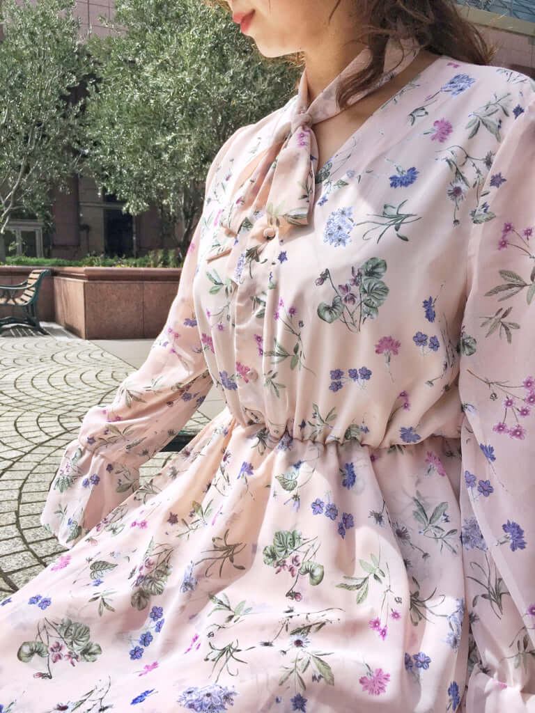 「Chiffon floral dress(シフォンフローラルドレス)」