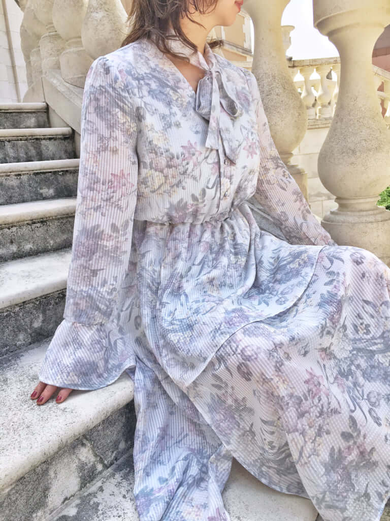 「Gingham floral dress(ギンガムフローラルドレス)」