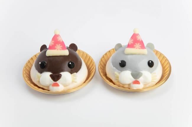 「カワウソクリスマスケーキ 「やまと」「ハク」」(756円・税込)