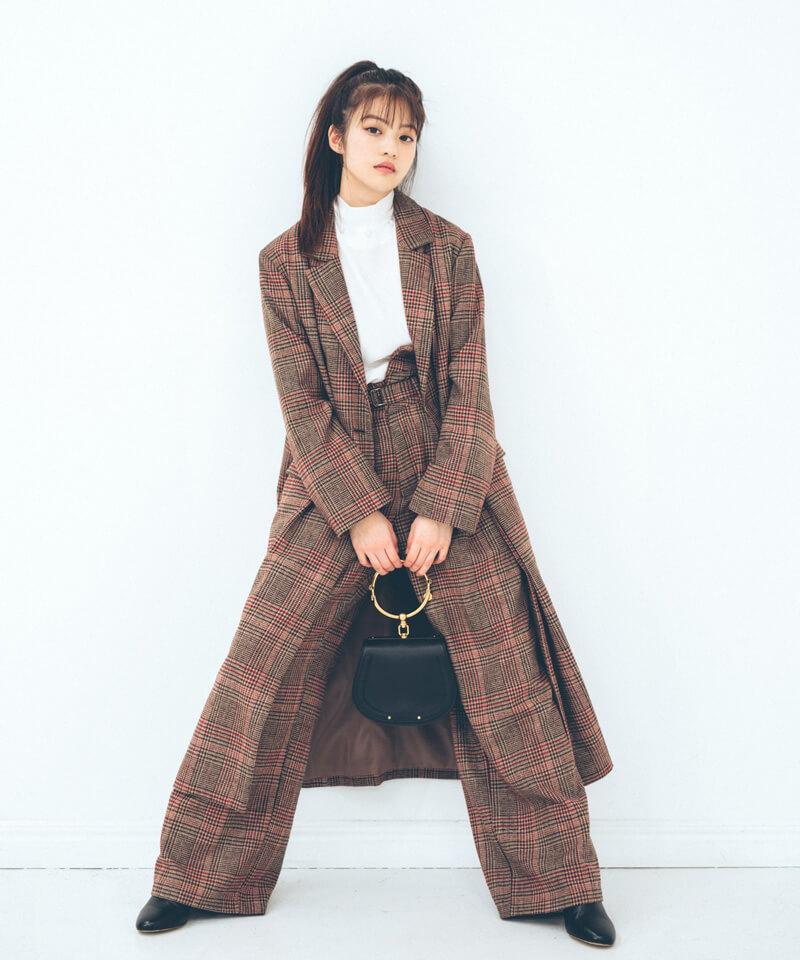 「今田美桜さんコラボ サイドスリットロングコート」¥12,800(税別)