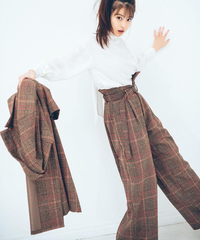 「今田美桜さんコラボ ハイウエストワイドパンツ」¥5,900(税別)