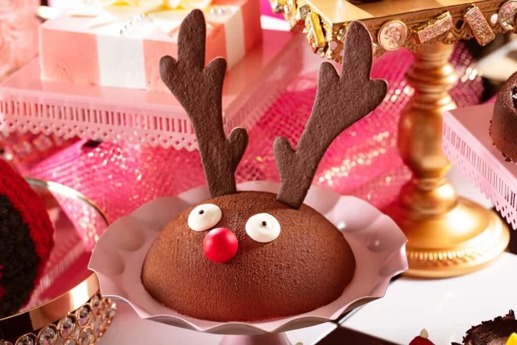 「サンタのゆかいな仲間たち トナカイチョコレートケーキ」