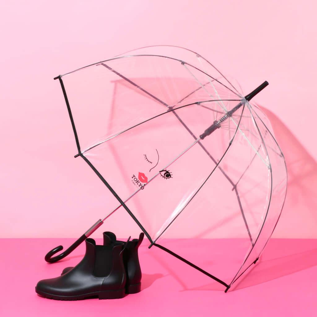 「KISS TOKYOビニール傘」58cm ブラック 1,000円(税込)