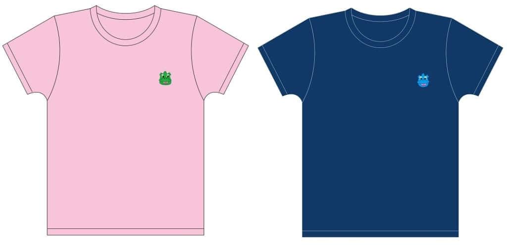 「Tシャツ」ピンク、ネイビー 各3,500円(税込)