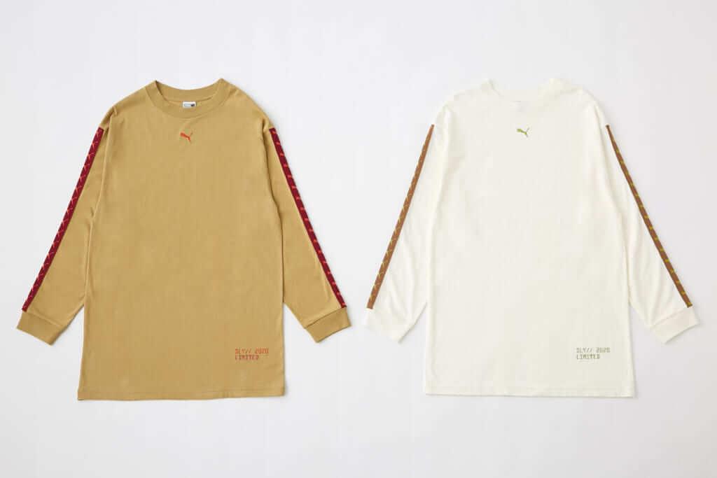 「PUMA x SLY LOGO ONE PIECE」BEIGE、WHITE 各6,990円(税別)