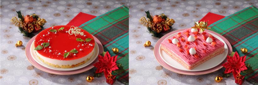 「いちごのレアチーズケーキ」「いちごのクリスマスモンブラン」