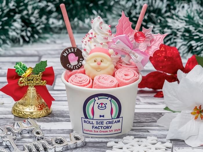 ROLL ICE CREAM FACTORY(ロールアイスクリームファクトリー)ロイヤルピンククリスマス ¥1,300(税抜)