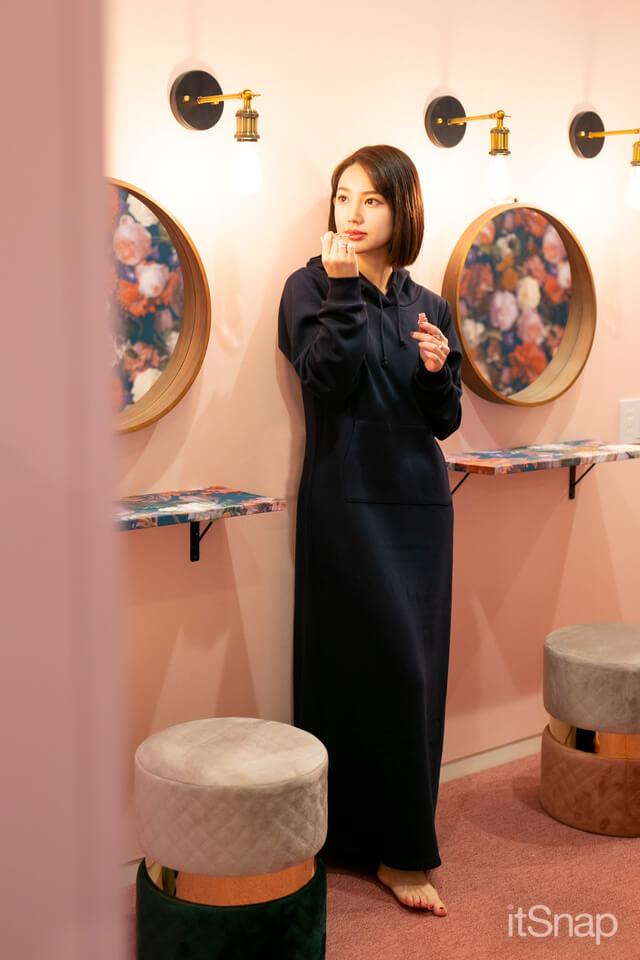 KOBE LETTUCE(神戸レタス)のルームウェア 裏起毛スウェットマキシワンピ ¥3,30