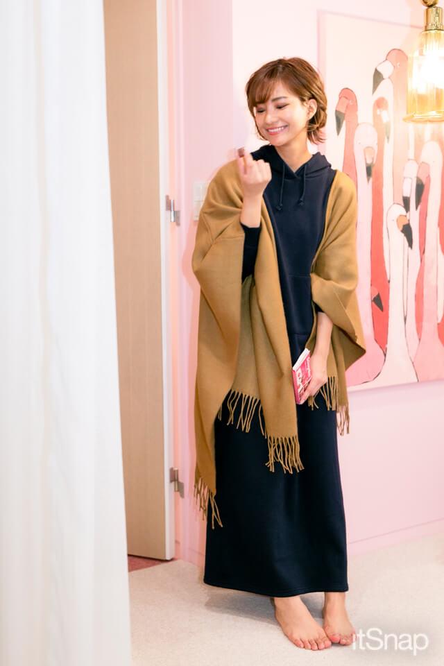 KOBE LETTUCE(神戸レタス)のルームウェア 裏起毛スウェットマキシワンピ