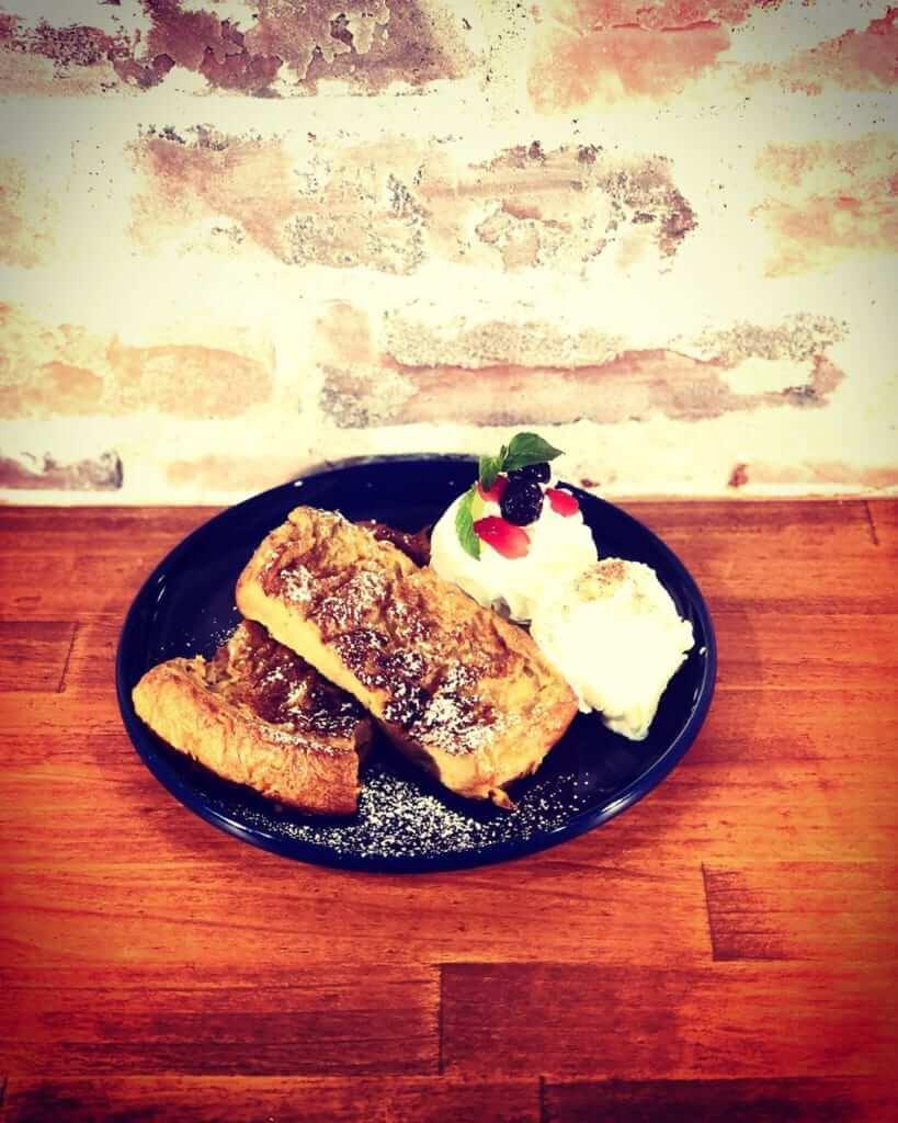 カフェオレ専門店の特製カフェオレフレンチトースト /¥680(税抜き)