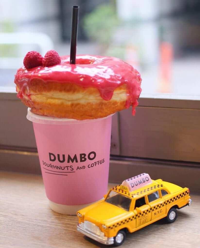 DUMBOダンボのドーナツオンコーヒーカップ