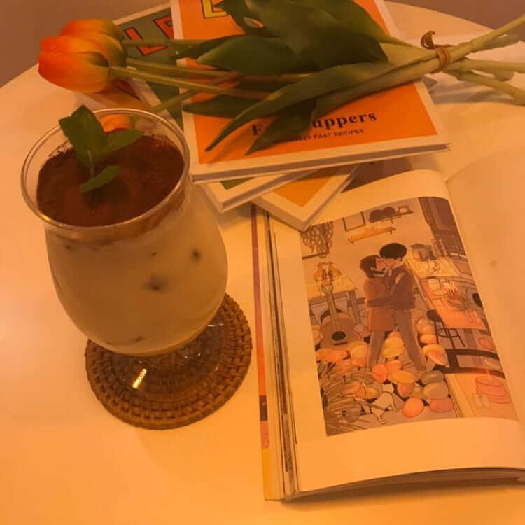 大阪カフェスケッチのティラミスラテ