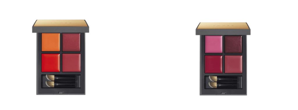 左からTHREE ピークパフォーマンスリップクアッド X01 I'M GAME、X02 DON'T STOP MOVING/各¥6,500(税抜き) 全て限定