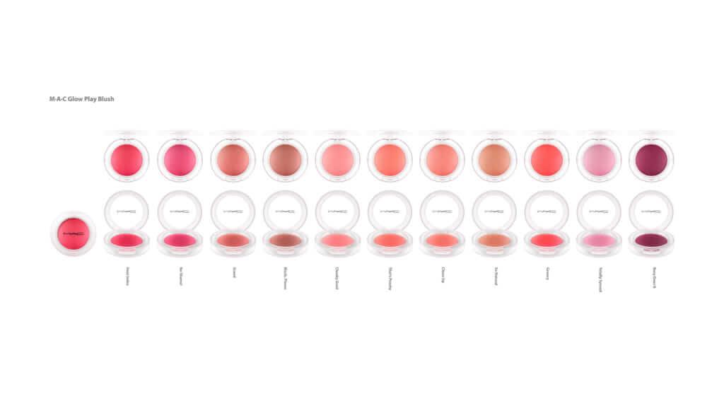マック「グロー プレイ ブラッシュ」全11色のカラーバリエーション