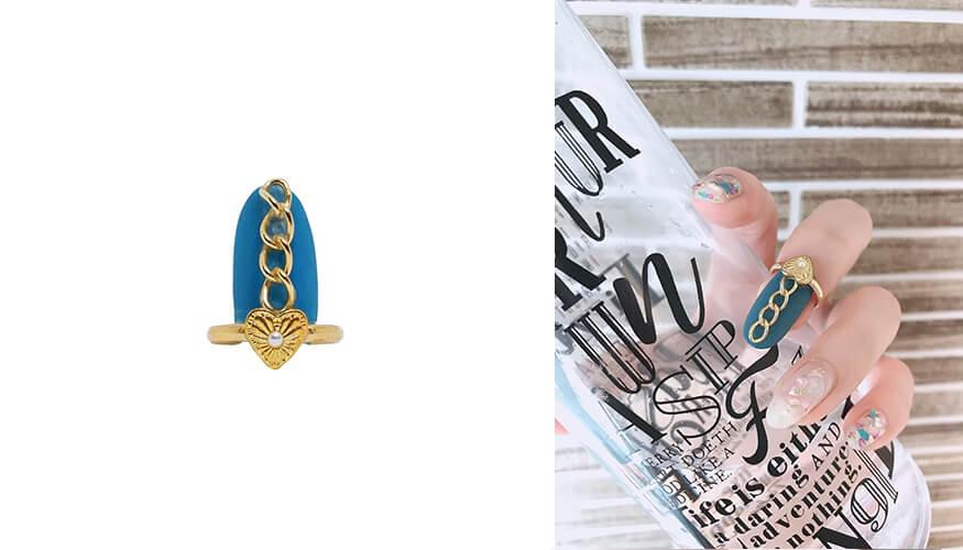 「STAMPNAIL RING(スタンプネイル リング)」人気アイテムのSTAMPNAIL RING 033/¥3,300(税込み)