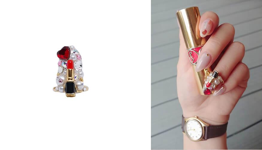 「STAMPNAIL RING(スタンプネイル リング)」人気アイテムのSTAMPNAIL RING 037/¥4,400(税込み)