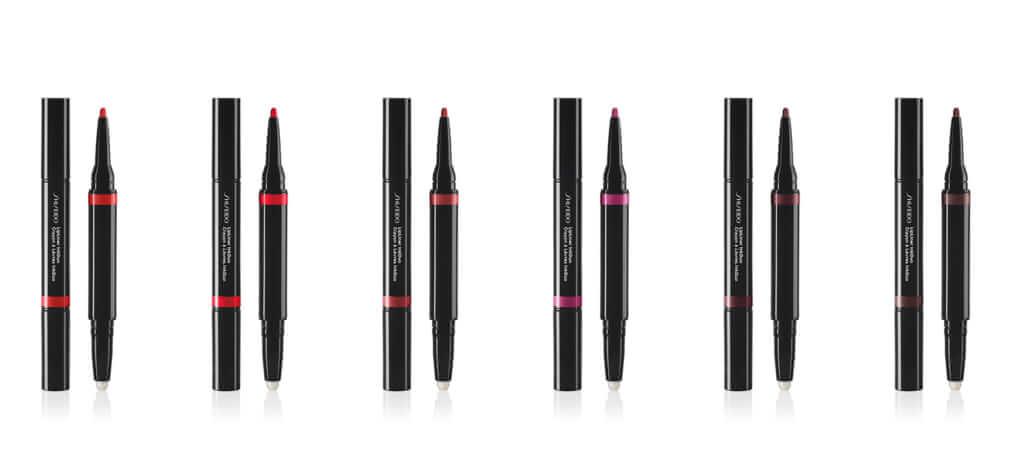 左から、SHISEIDO リップライナーインクデュオ 07 Poppy、08 True Red、09 Scarlet、10 Violet、11 Plum、12 Espresso/すべて¥2,860(税込み)