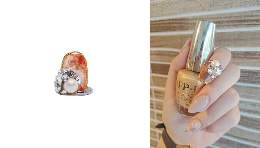 「STAMPNAIL RING(スタンプネイル リング)」人気アイテムのSTAMPNAIL RING 007/¥5,500(税込み)