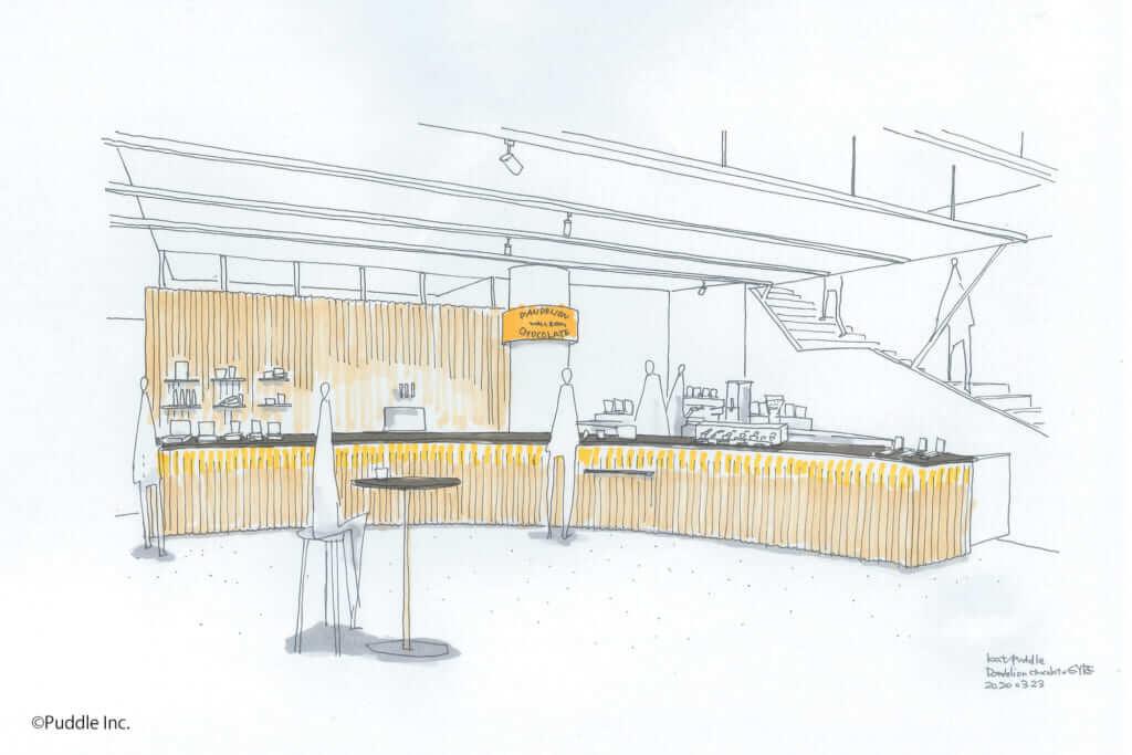 ダンデライオン・チョコレート 表参道店の内装イメージ