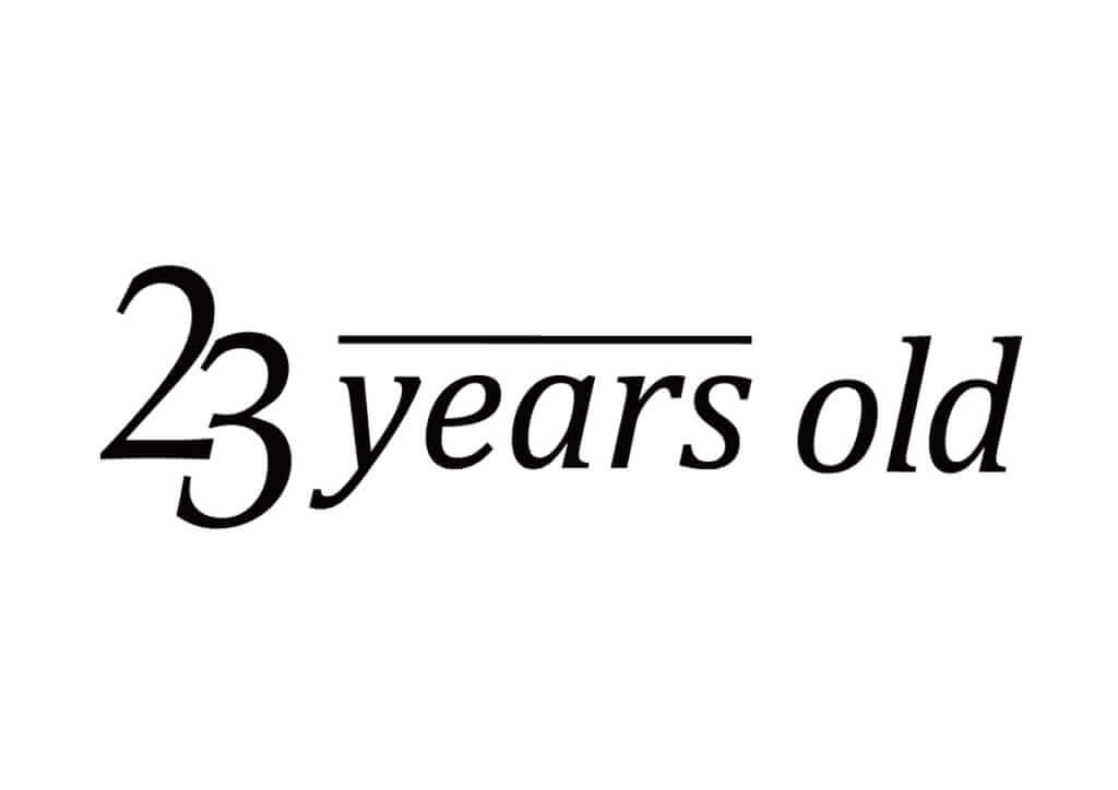 23years oldのロゴ