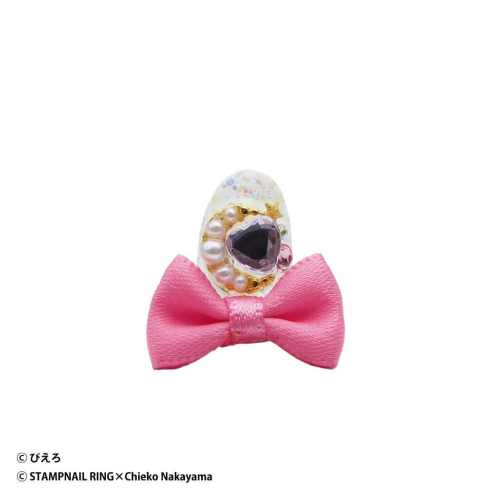 魔法の天使クリィミーマミ Design Ring 002 濃いピンクリボン/¥5,720(税込み)
