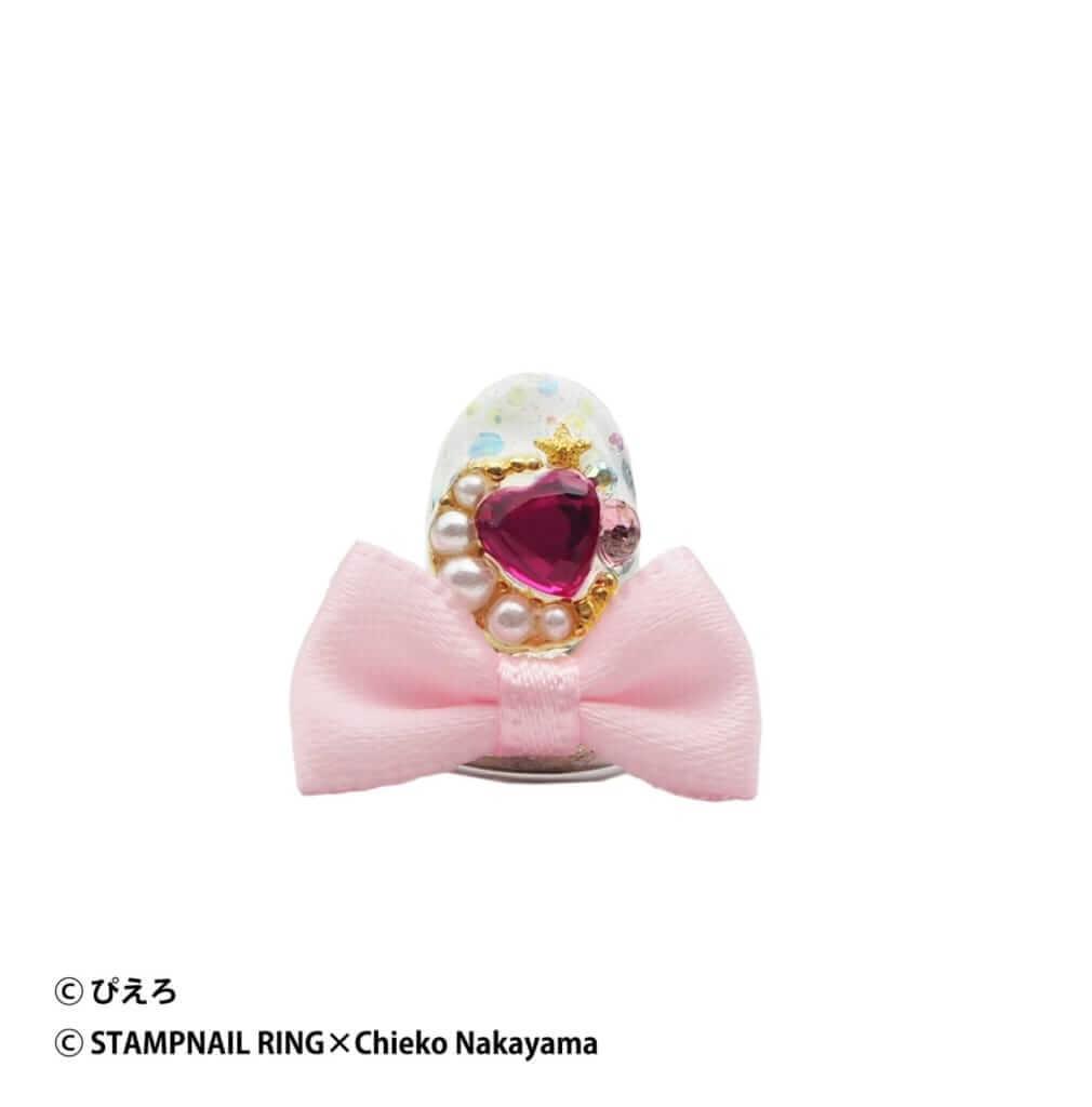 魔法の天使クリィミーマミ Design Ring 002 薄いピンクリボン/¥5,720(税込み)