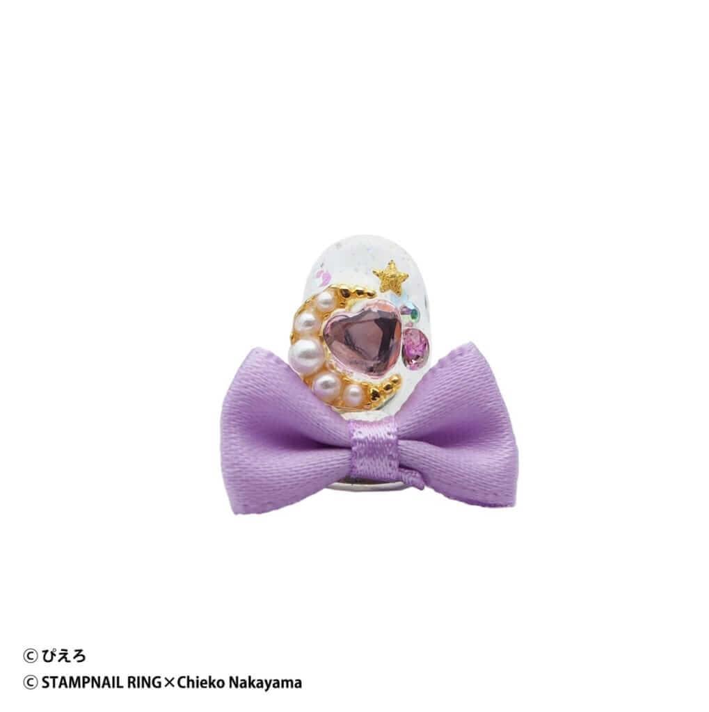 魔法の天使クリィミーマミ Design Ring 002 パープルリボン/¥5,720(税込み)