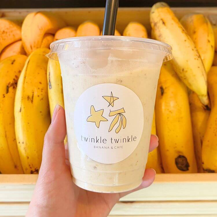 twinkle twinkle -BANANA&CAFE-のバナナスムージー/¥500(税抜き)
