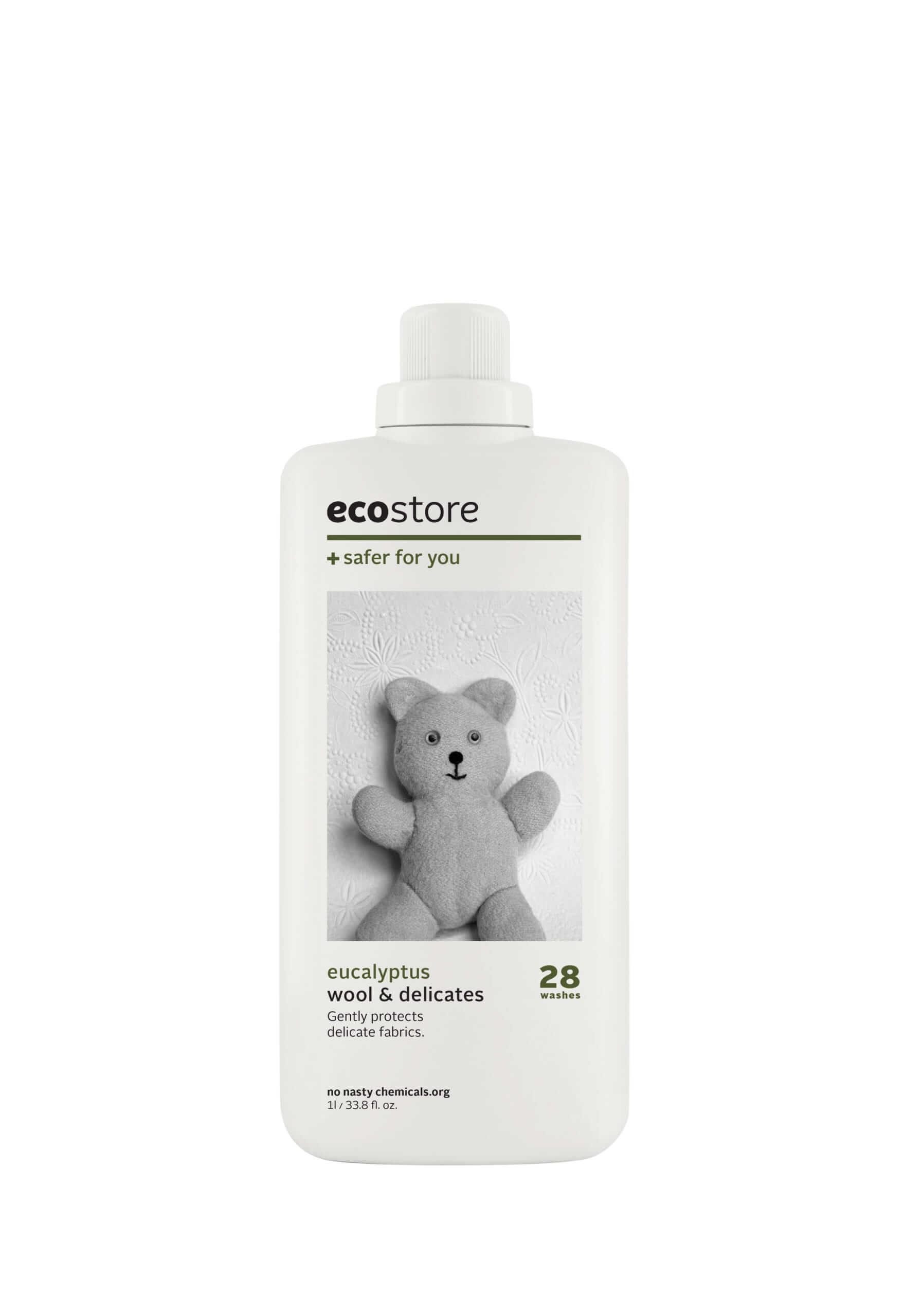 ecostore(エコストア)のデリケート&ウールウォッシュ<おしゃれ着用> 500mL/¥748(税込み)、1L/¥1,298(税込み)