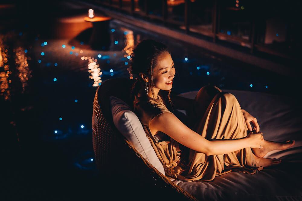 THIRD石垣島のルーフトップの夜景