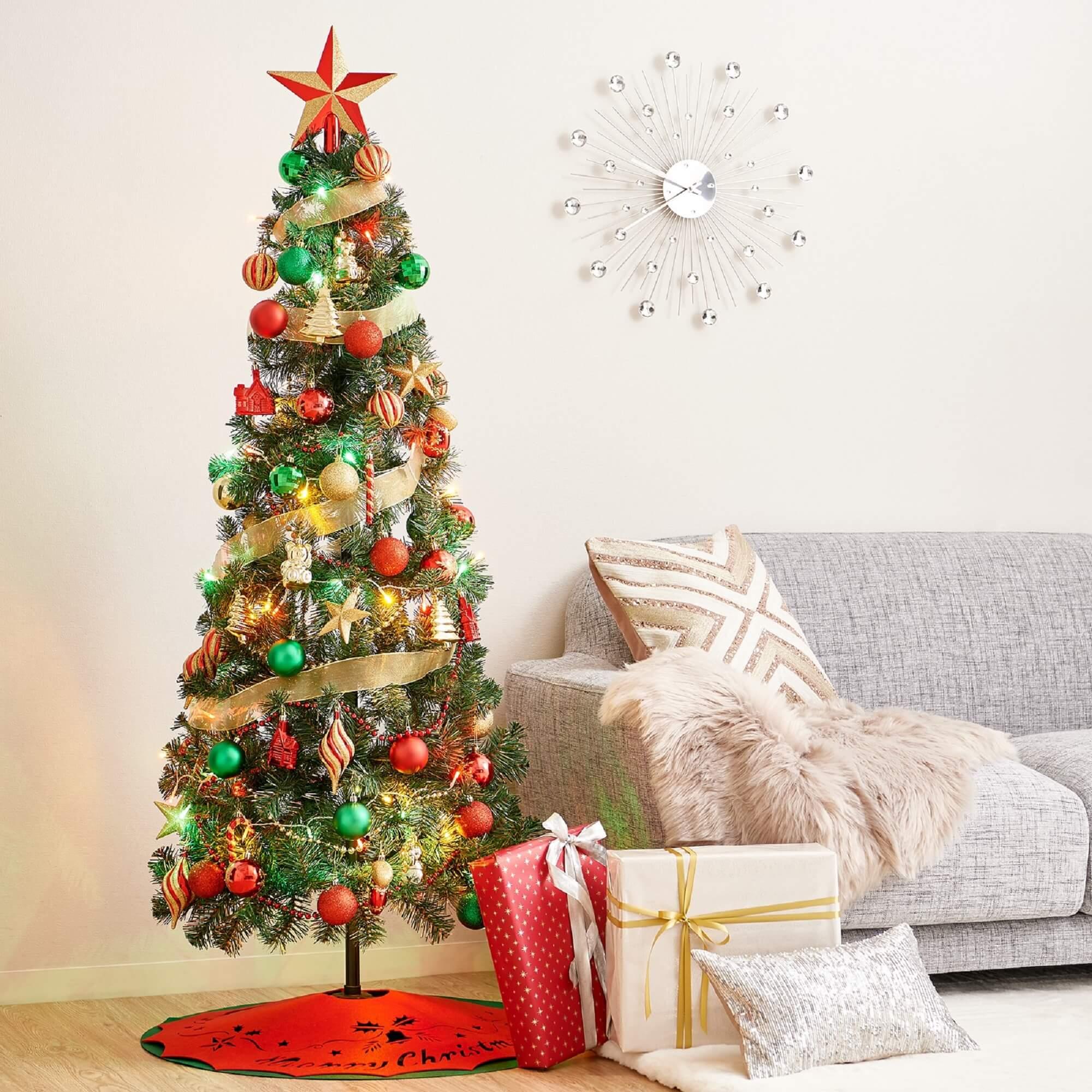 クリスマスツリー スターターセット 150cm グリーン/¥10,000(税込抜き)