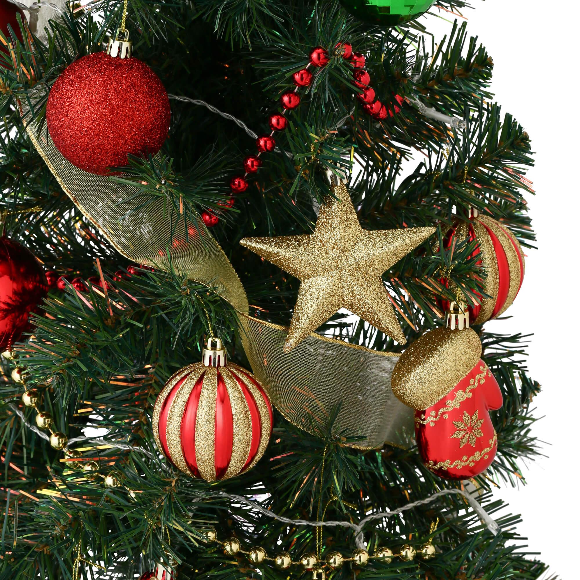 クリスマスツリー スターターセット 150cm グリーンのオーナメント
