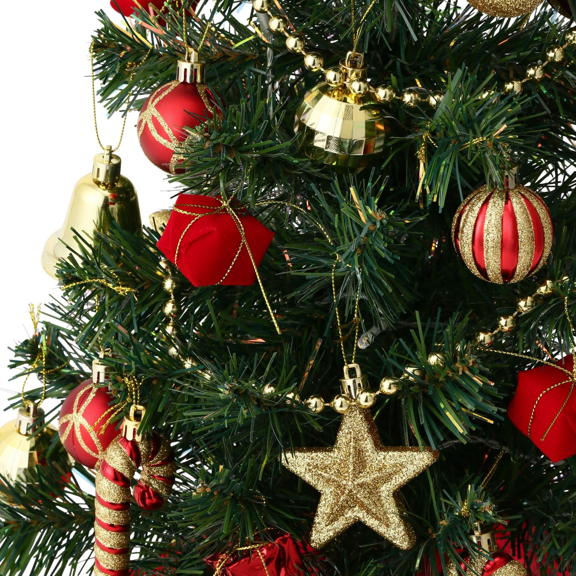 クリスマスツリー スターターセット60cm グリーンのオーナメント