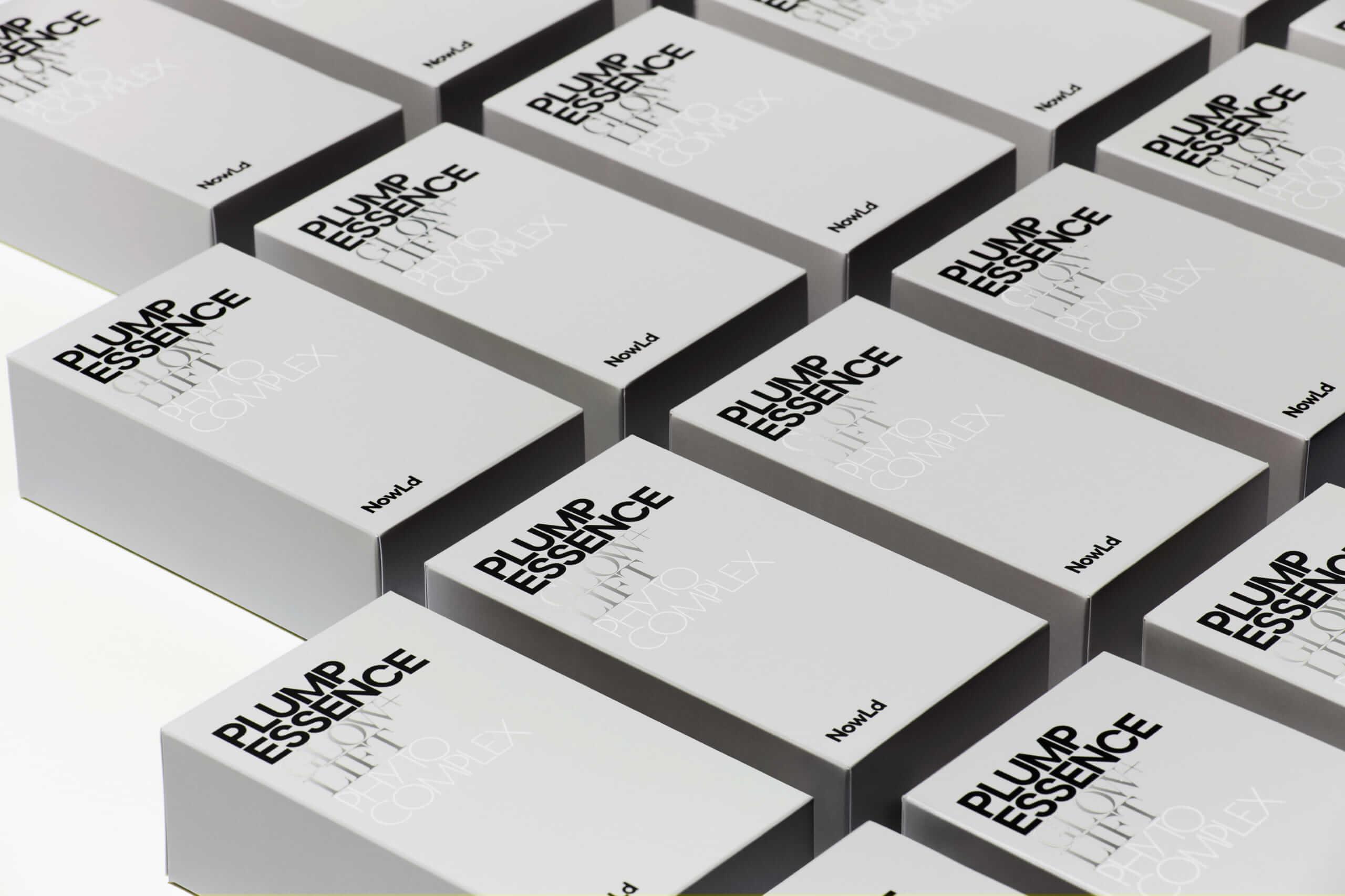 プランプエッセンスのパッケージデザイン