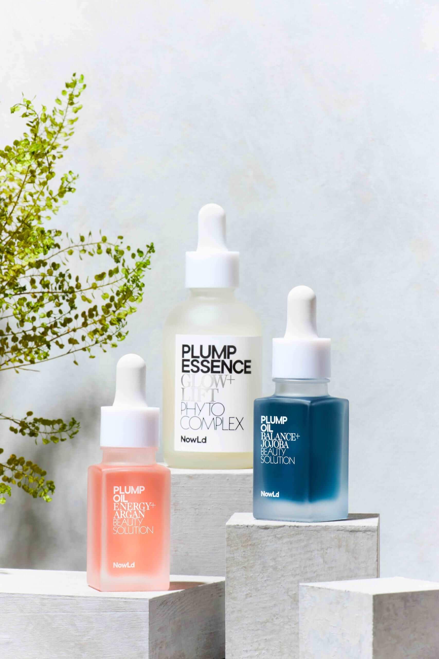 プランプオイル E+(美容オイル)、プランプエッセンス(美容化粧液)、プランプオイル B+(美容オイル)