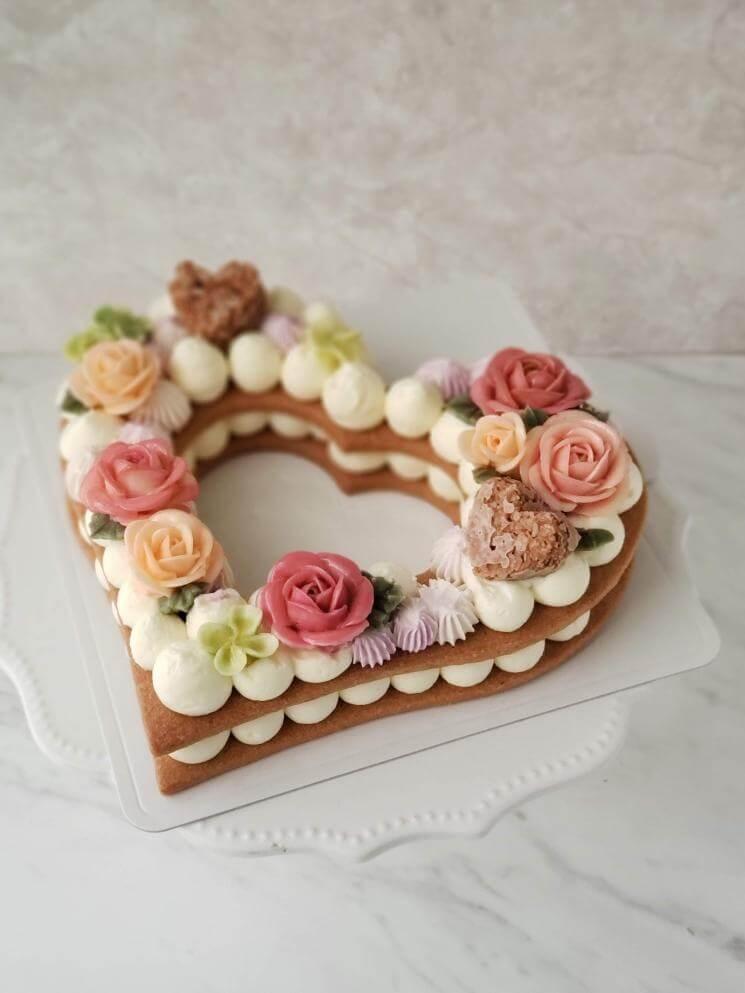 フラワーナンバーケーキ ~open heart~/¥8,100(税抜き)