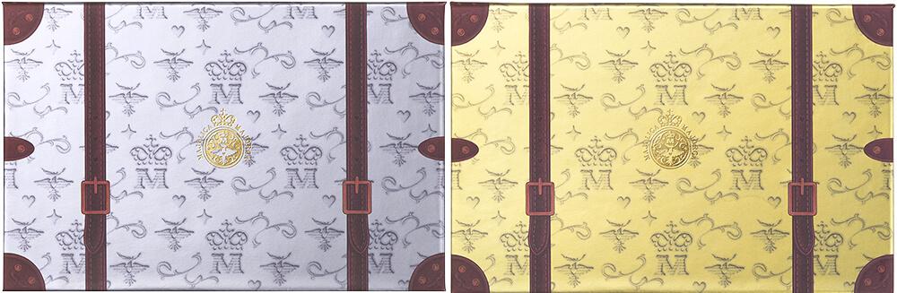 左からマジョリカ マジョルカ ナイストゥミーチュートランク VI 北半球、RD 南半球/¥2,500(ともに税抜き)