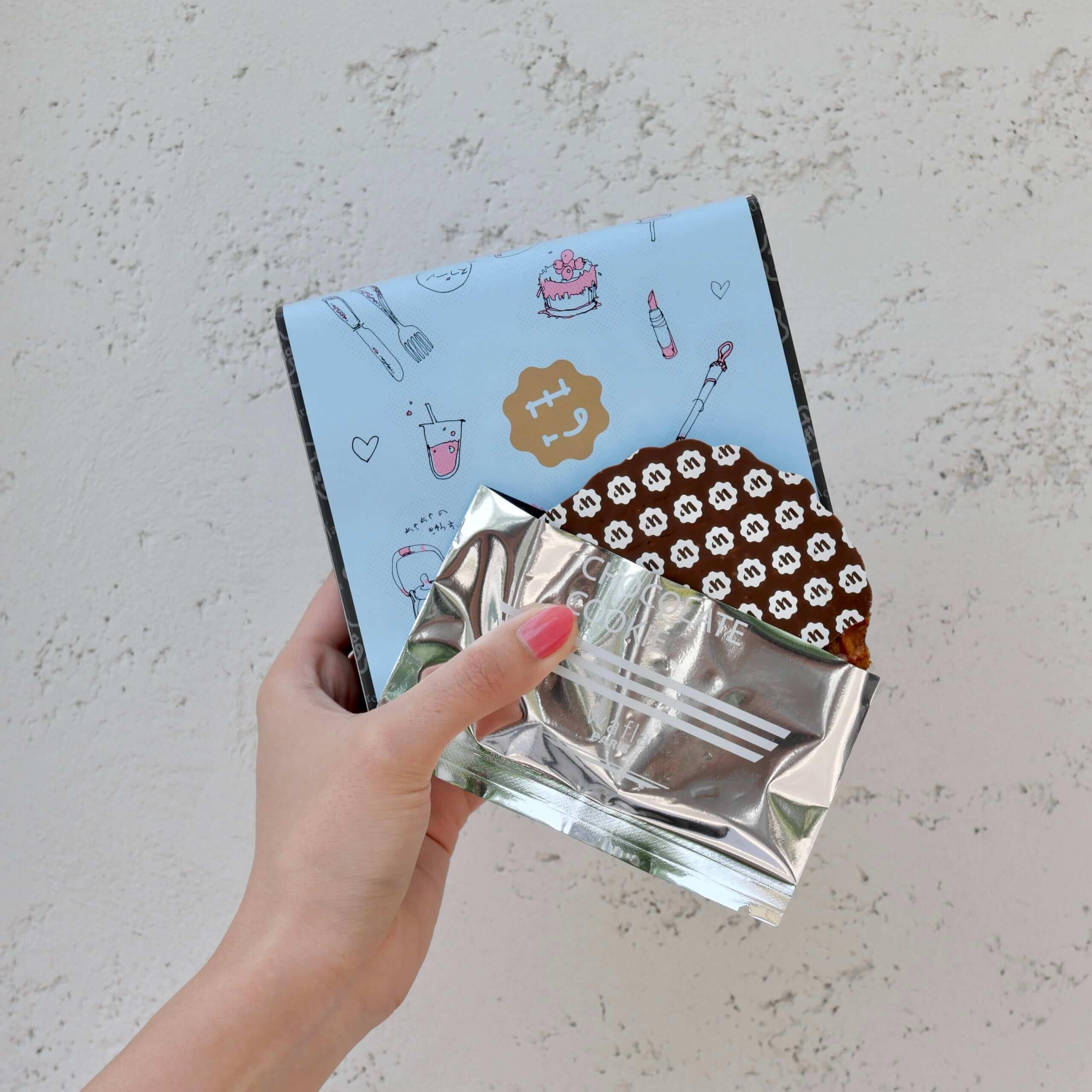 バタークッキー ミルクチョコレート(5枚入り)/¥1,350(税込み)