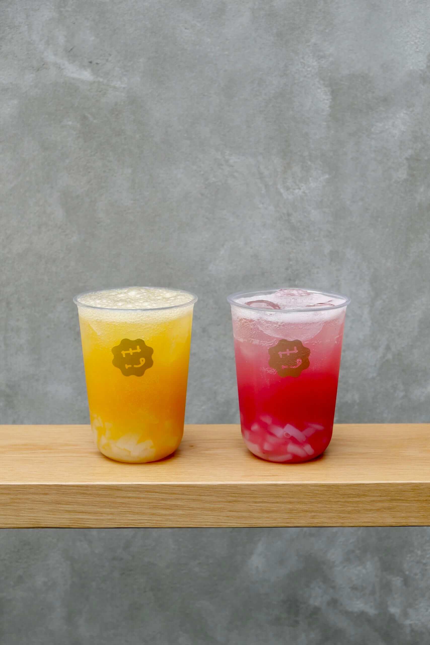ナタデココソーダ(マンゴーココ、ピーチココ)/¥500(税抜み)