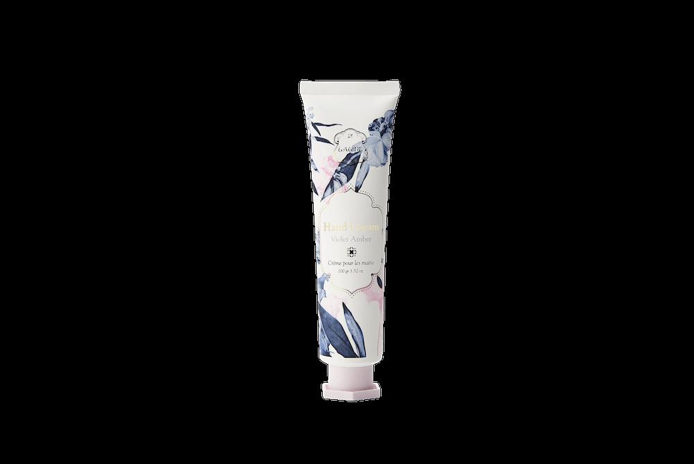 限定デザイン バイオレットアンバーハンドクリーム 100g/¥1,800(税抜き)