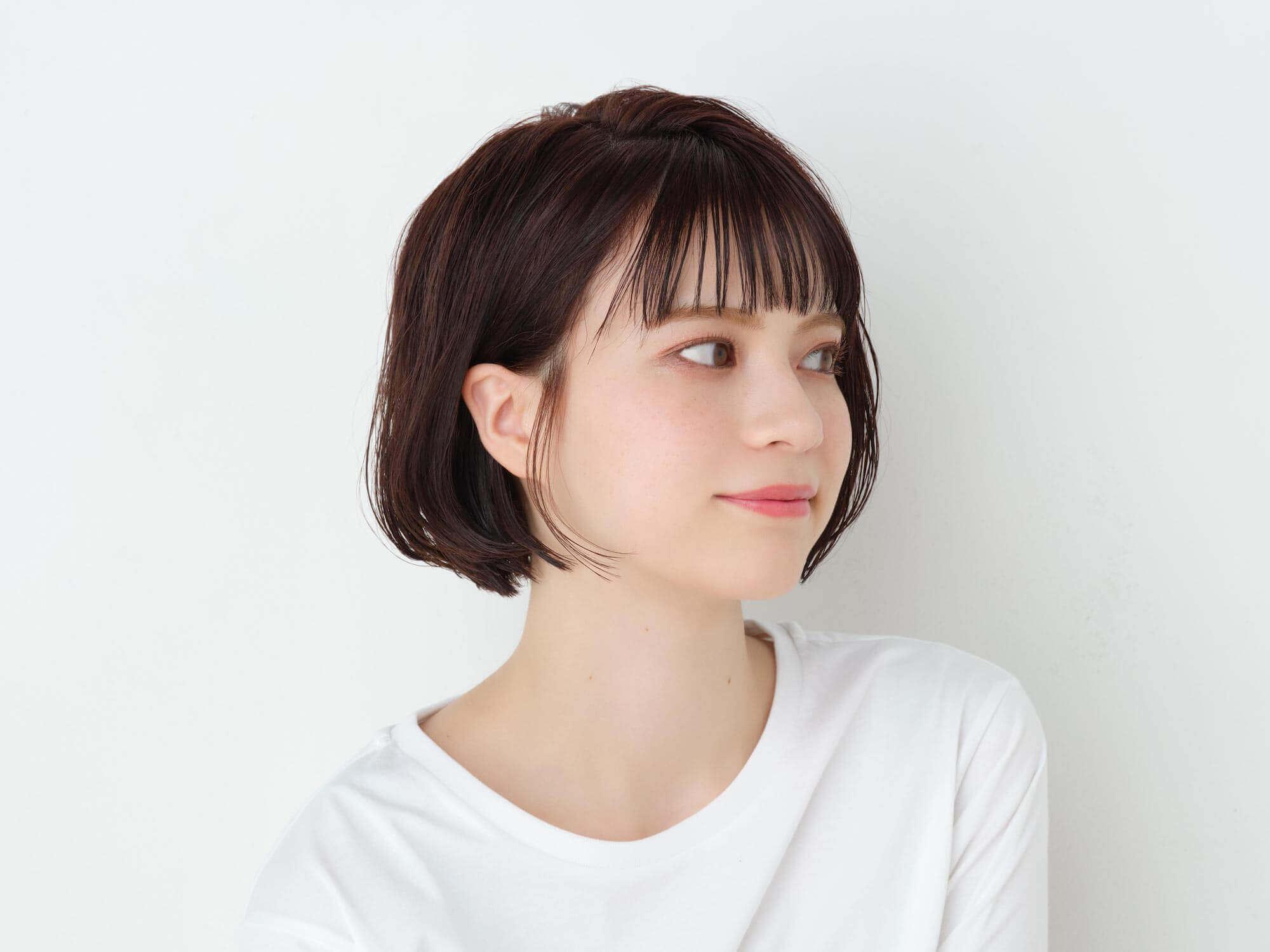 スタイリングスプレーポイントキープ(Sakura)を使ったヘアスタイル