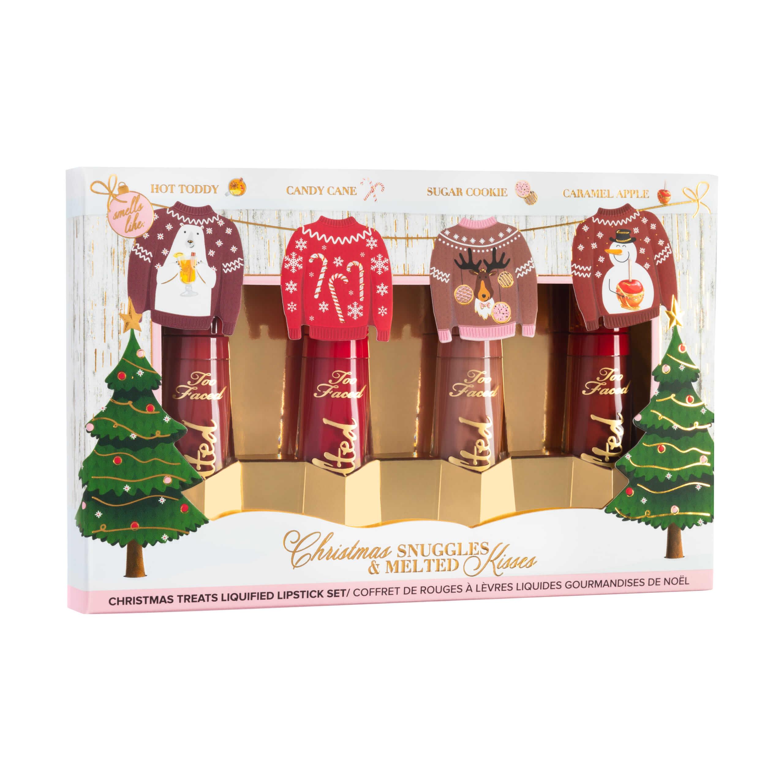 クリスマス メルテッド キス リキッド リップスティック セット/¥3,800(税抜き)