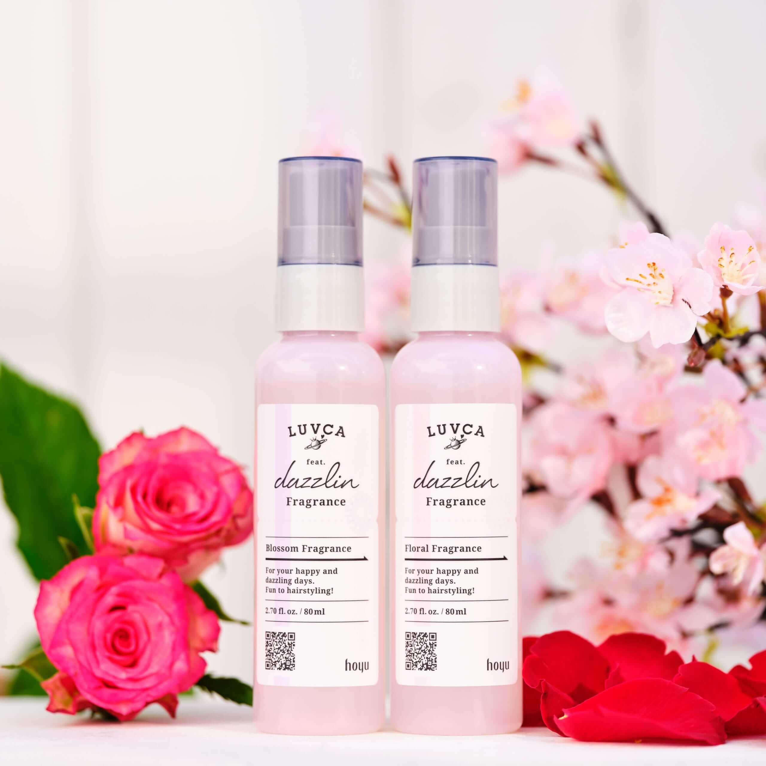 LUVCAフレグランスシリーズの髪・肌両用化粧水ミストのメインイメージ